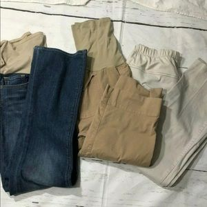 Maternity Pants Set Of 3 Various Sizes